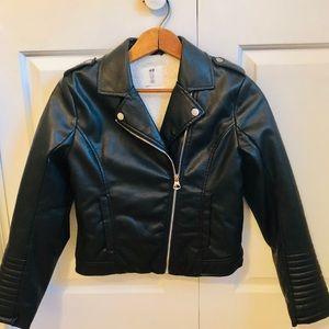 H&M girls biker jacket